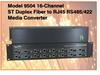 16-Channel ST Fiber to RJ45 RS485/422 Media Converter -- Model 9504 -Image