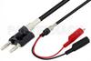 Banana Plug to Alligator Clip Cable 60 Inch Length Using RG58 Coax -- PE3502-60