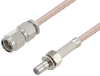 SMA Male to SMB Jack Cable 12 Inch Length Using RG316-DS Coax -- PE3W05361-12 -Image