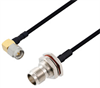 SMA Male Right Angle to TNC Female Bulkhead Cable Assembly using LC141TBJ Coax, 1.5 FT -- LCCA30495-FT1.5 -Image