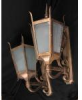 Pair Large Cast Bronze Lanterns -- 81022WS