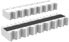 Resistor Networks, Arrays -- CAT16-PC4F12LFCT-ND