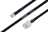 MIL-DTL-17 SMA Male to TNC Male Cable 24 Inch Length Using M17/84-RG223 Coax -- PE3M0054-24 -Image