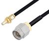 SMA Male to SSMC Jack Bulkhead Cable 36 Inch Length Using PE-SR405FLJ Coax -- PE3C4445-36 -Image