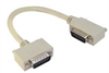 Deluxe Molded D-Sub Cable, DB15 Male / Right Angle Exit 2 Male, 25.0 ft -- CSMNRA15-2MM-25 -Image