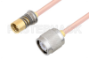 Snap-On BMA Jack to TNC Male Cable 60 Inch Length Using RG405 Coax -- PE3C4892-60 -Image