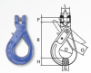 Grade 100 Clevis Self Locking Hook