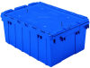 Akro-Mils Keepbox 8.5 gal 35 lb Blue Industrial Grade Polymer Attached Lid Container - 21 1/2 in Length - 15 in Width - 9 in Height - 39085 BLUE -- 39085 BLUE