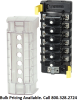 Blue Sea Systems 5050 ST CLB Circuit Breaker Block, 6 Independent Circuits - Bulk Packaging -- 78301B