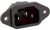 AC POWER INLET, IEC 320, SCREW MOUNT, .250 QD -- 70133357