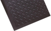 Notrax Diamond Top Interlock 545 Black Rubber Diamond-Plate Anti-Fatigue Mat - 28 in Width - 31 in Length - 545 28 X 31 BLK SNGL -- 545 28 X 31 BLK SNGL