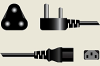 South African Detachable Power Cord -- A7307 - Image