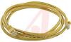 Cable, Patch; 7 ft.; 24 AWG; UnshieldedTwisted Pair; Booted; Yellow; UL Listed -- 70081261
