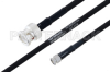 MIL-DTL-17 BNC Male to SMA Male Cable 18 Inch Length Using M17/84-RG223 Coax -- PE3M0033-18 -Image