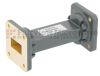 WR-75 Waveguide Section 3 Inch Length Straight Using UBR120 Flange With a 10 GHz to 15 GHz Frequency Range in Commercial Grade -- SMF75S-03 -Image