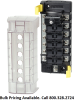 Blue Sea Systems 5052 ST CLB Circuit Breaker Block, 6 Position with Negative Bus -- 78303