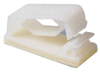 Flat Clamp Adhesive Natural Nylon -- 78042998677-1