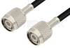 TNC Male to TNC Male Cable 72 Inch Length Using 93 Ohm RG62 Coax -- PE3408-72 -Image
