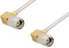 SMA Male Right Angle to SMA Male Right Angle Cable 60 Inch Length Using PE-SR405AL Coax -- PE34213LF-60 -Image