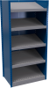 Closed shelving with sloped shelves (standalone unit / series possible) -- SRE2T-EE750501 - Image