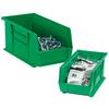 "14 3/4"" x 5 1/2"" x 5"" Green - Plastic Stack & Hang Bin Boxes -- BINP1555G -- View Larger Image"