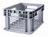 """Mesh-Walled Storage Container, HDPE, Stackable, 24 x 16 x 12"""" -- GO-47530-10 -- View Larger Image"""