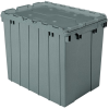 Akro-Mils Keepbox 17 gal 100 lb Gray Industrial Grade Polymer Attached Lid Container - 21 1/2 in Length - 15 in Width - 17 in Height - 39170 GREY -- 39170 GREY - Image