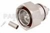 7/16 DIN Male Connector Crimp/Solder Attachment for PE-C195, PE-P195, RG58, RG141, RG303, LMR-195, 0.195 inch -- PE44536 -Image