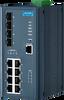 8FE PoE+4G SFP Managed Ethernet Switch, IEEE802.3af/at, 46~57VDC -- EKI-7712E-4FP -Image