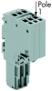 2-conductor female connector; for insertion into carrier terminal blocks; codable; 14-pole -- 2020-214
