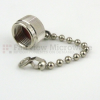 TNC Male Open Circuit Connector Cap With 2.5 Inch Chain -- SC2065 -Image