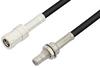 SMB Plug to SMB Jack Bulkhead Cable 72 Inch Length Using RG174 Coax, RoHS -- PE33674LF-72 -Image
