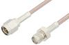 SMA Male to SMA Female Cable 12 Inch Length Using 75 Ohm RG179 Coax -- PE3102-12