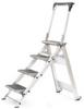 LITTLE GIANT 4-Step Aluminum Safety Step Ladder w/Bar -- Model# 10410BA