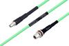 Temperature Conditioned SMA Male to N Female Bulkhead Low Loss Cable 36 Inch Length Using PE-P300LL Coax -- PE3M0230-36 -Image