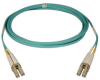 10Gb Duplex Multimode 50/125 OM3 LSZH Fiber Patch Cable, (LC/LC) - Aqua, 6M (20-ft.) -- N820-06M - Image