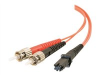2m MTRJ/ST Duplex 62.5/125 Multimode Fiber Patch Cable - Orange -- 33137