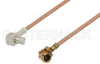 UMCX Plug to MCX Plug Right Angle Cable 3 Inch Length Using RG178 Coax -- PE38502-3 -Image