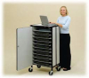 10 Laptop Storage Cart with Power Strip -- LAPTOP-10E