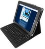 Silver Blue Wireless iPad Keyboard with Luxury Case -- S76BWC