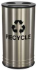 3-Stream Recycling Receptacle,14 Gal,SS -- 22N279 - Image