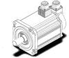 100mm, 1.0kW Tamagawa Servo Motor -- 100 mm Series - TS4813 - Image