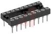 Socket, DIP;18Pins;Low Profile;Open;Solder Tail;0.3In.;Beryllium Copper;Tin/Lead -- 70206325 - Image
