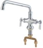 Lead Free Deck Mount Double Pantry Faucet with 12 IN Swivel Spout -- 0239826 - Image