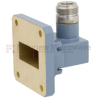 WR-112 to Type N Female Waveguide to Coax Adapter UG-51/U Square Cover Standard with 7.05 GHz to 10 GHz H Band in Copper, Paint -- FMWCA1012 - Image