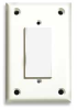 Security Wall Plate,1 Gang,White,ABS -- 1CFC6