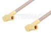 SSMB Plug Right Angle to SSMB Plug Right Angle Cable 60 Inch Length Using RG316 Coax, RoHS -- PE3157LF-60 -Image