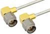 SMA Male Right Angle to SMA Male Right Angle Semi-Flexible Precision Cable 18 Inch Length Using PE-SR405FL Coax, RoHS -- PE39416-18 -Image