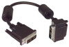 DVI-D Single Link LSZH DVI Cable Male / Male Right Angle, Top 5.0 ft -- MDA00040-5F -Image