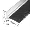 Rigid PVC 90° Profile – Single Row Brush -- RPVC312036